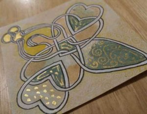 Interlocking Shapes - easy Celtic Knotwork - Butterfly Angel