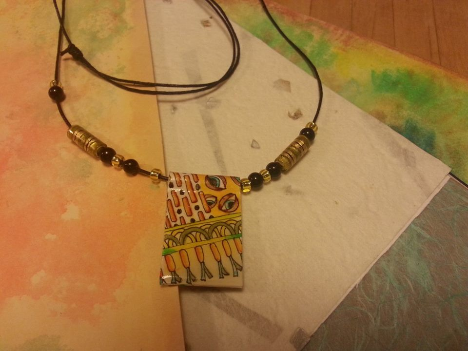 Tangled paper jewelry in putney november 16th tangle vermont color tangled pendant and papers aloadofball Images