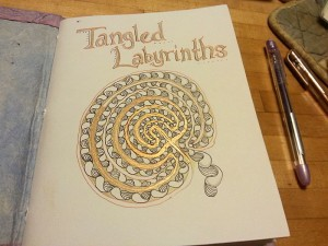 tangled labyrinth journal inside cover