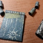 Tangled Black Paper Beads