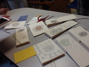 Workshop participant journals in progress