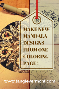 Make Unique Mandala Templates From just ONE Coloring page