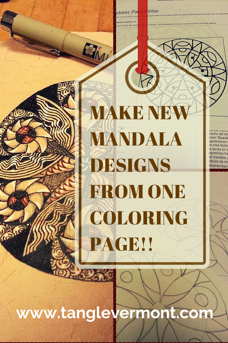 Unique mandala coloring pages - Make Unique Mandala Templates From Just One Coloring Page
