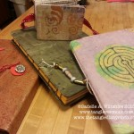 Labyrinth journal with art journals, Sadelle Wiltshire