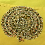 Tangled Labyrinth on Apron by Sadelle Wiltshire, CZT