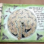 Celtic labyrinth spread, February journal, Sadelle Wiltshire (c)