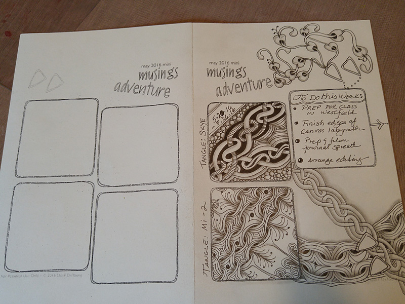 Musings journal one side empty