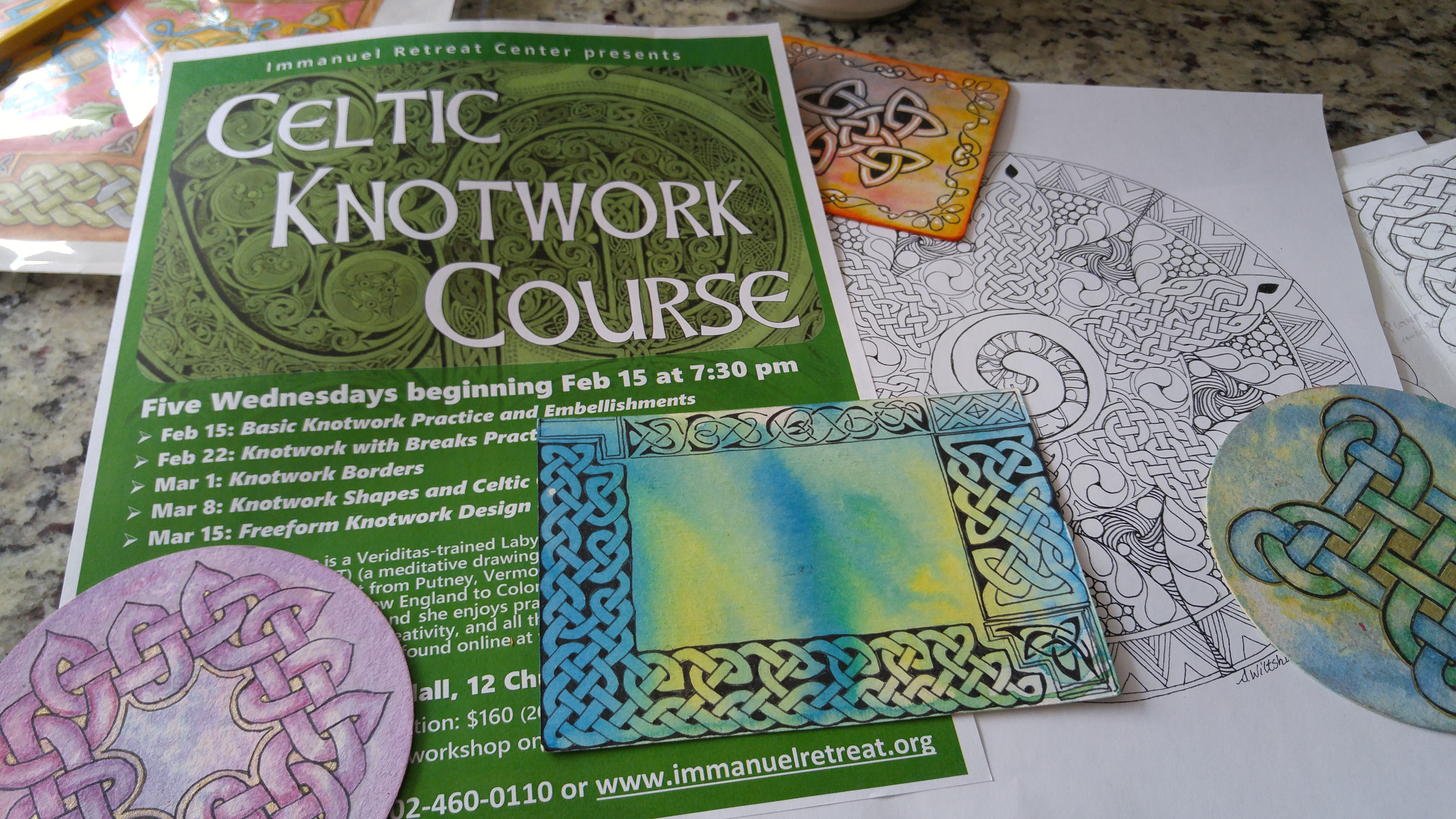 Celtic artwork ©2017, Sadelle Wiltshire, www.tanglevermont.com