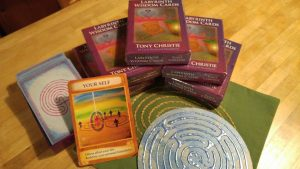 Labyrinth Wisdom Cards available in the US from TangleVermont.com