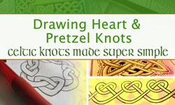 New Online Knotwork Class: Drawing Heart & Pretzel Knots