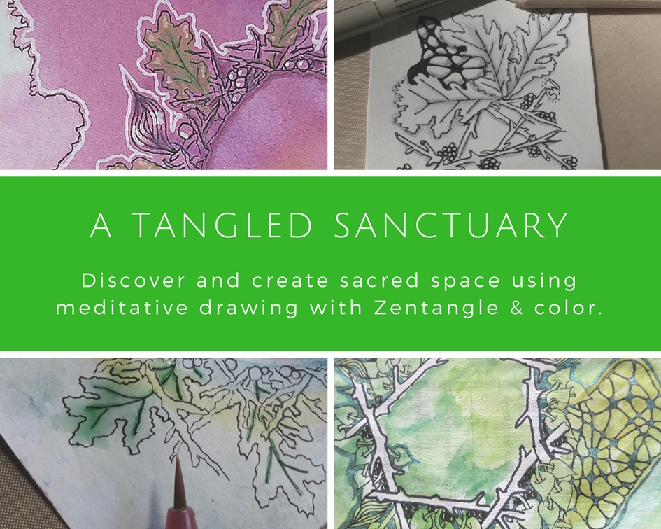 Zentangle-Inspired Art journaling Ongoing Self-Paced Online Course: A Tangled Sanctuary