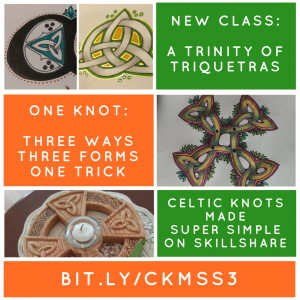 Celtic Knots Made Super Simple #3: Triquetras