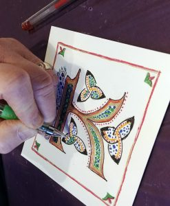 Student Illuminated letter with Chromatek Glitter pens