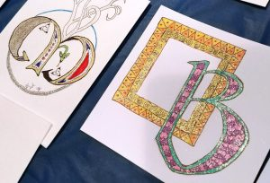 Student Celtic Illuminated Letters with glitter