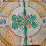 Infinity Card Celtic Cross Green Front Side Center (c)2018 Sadelle Wiltshire