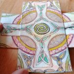 Infinity Card Celtic Cross Spiral Front Side (c)2018 Sadelle Wiltshire