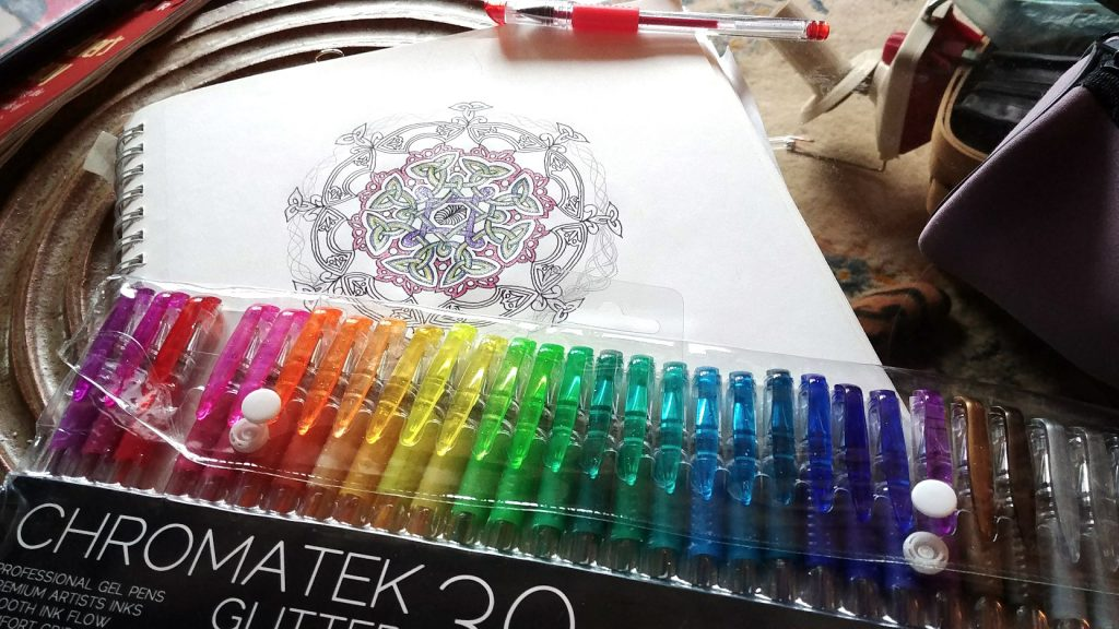 Chromatek Glitter pens and mandala