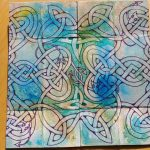 Infinity Card snake hearts flipped side with Triquetras (c)2018 Sadelle Wiltshire